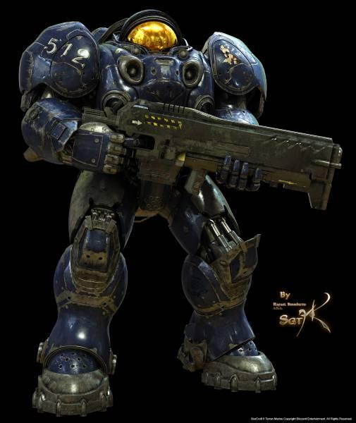 Terran_Marine_With_Gun_by_SgtHK