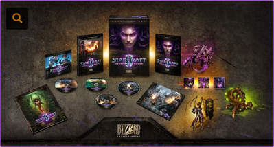 Starcraft 2 HotS Collectors Edition tartalma