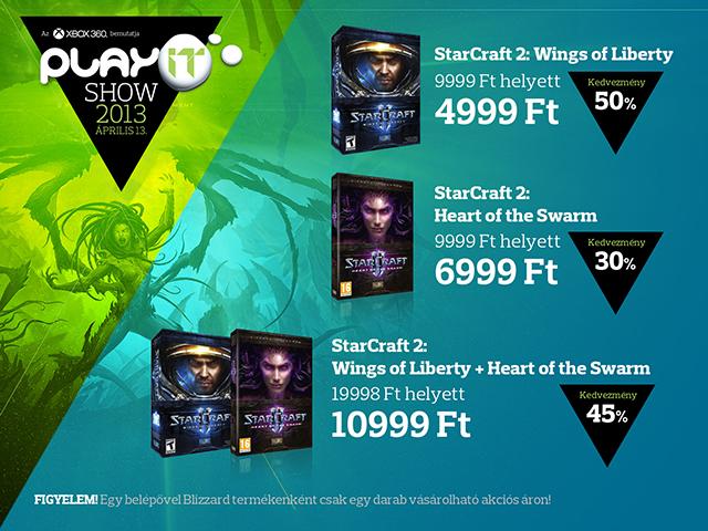Starcraft 2 akciók a PlayIt-en
