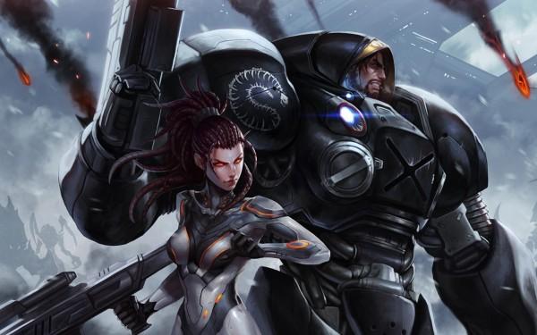 Starcraft-Sarah-Kerrigan-Jim-Raynor-Wallpapers